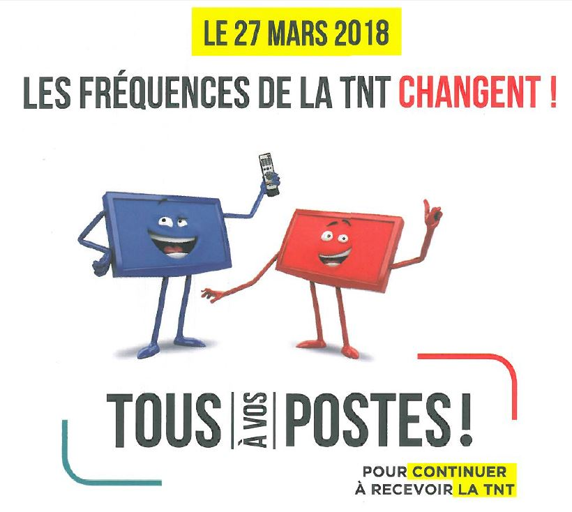 TNT changement frequences