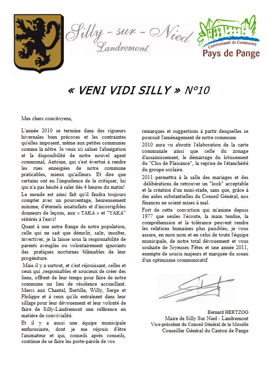 "Gazette ""Veni Vidi Silly"" N°10"