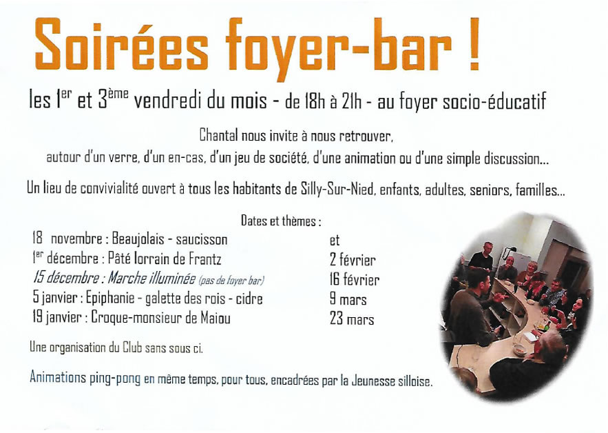 Club sans sou ci foyer bar 2017 2018
